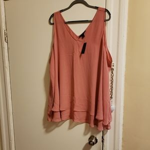 NWT Double Layer Tank Top Blouse